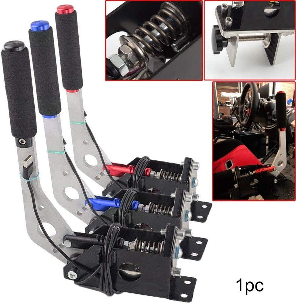 Universal Freno de Mano para SIM Carreras xiegons0 USB SIM Freno de Mano Abrazadera para Carreras Juegos G25 G27 G29 T500 T300 Polvo Rally Compatible para PC//Windows Sistema