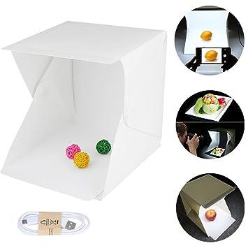 KALRI Portable Mini Photo Studio With LED Light - Small Folding Product Lighting Kit Light Box  sc 1 st  Amazon.com & Amazon.com : KALRI Portable Mini Photo Studio With LED Light - Small ...