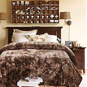 Interior Fur Bed Sheets amazon com cathay home lofty luxe faux fur blanket king caramel chanasya bed throw super soft fuzzy cozy warm fluffy beautiful color variation