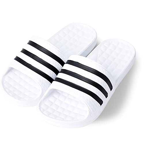 abf1d4d904226 KT Korean Style Three Striped Eva Slide Sandals Slippers (M 5 W