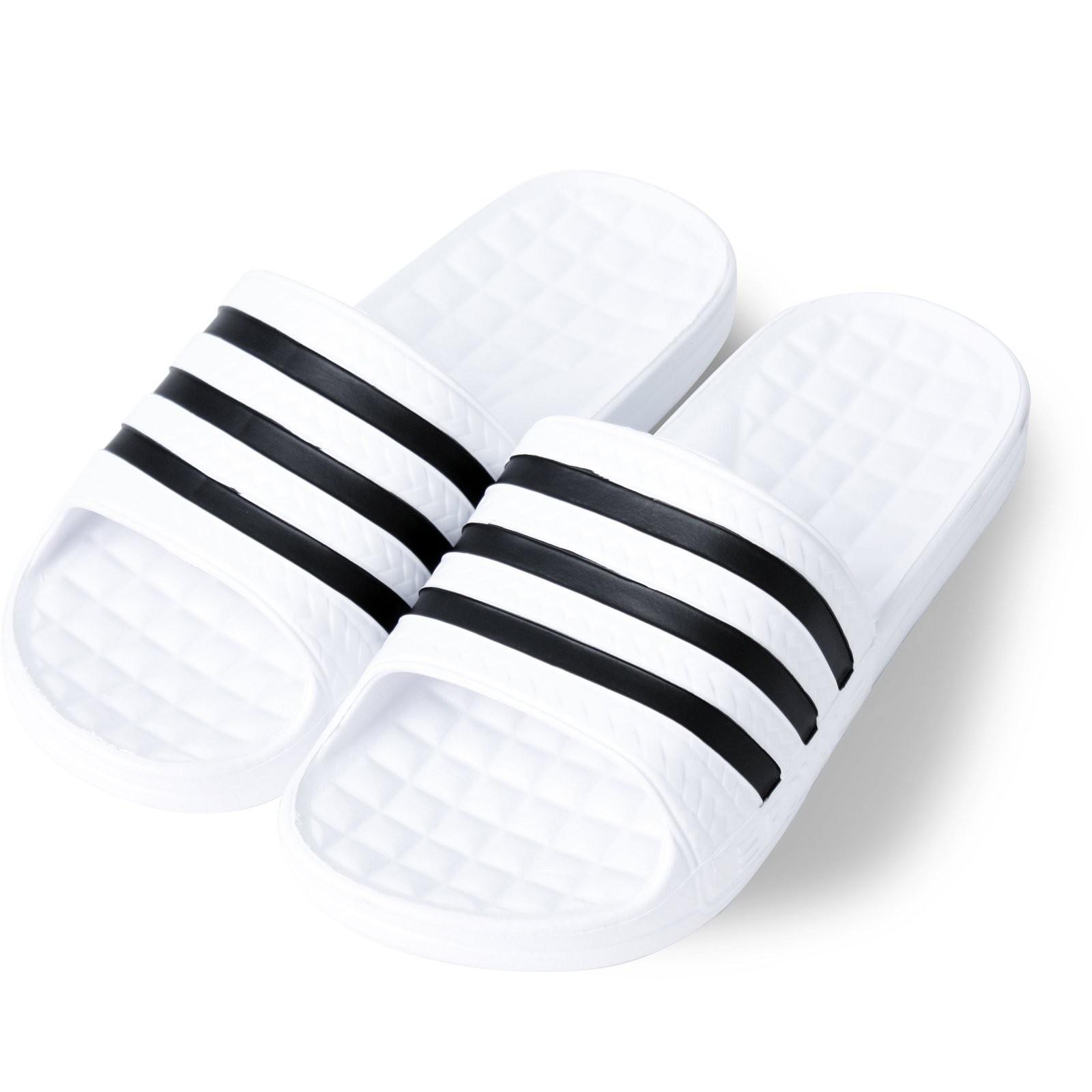KT Korean Style Three Striped Eva Slide Sandals Slippers (M:6/W: 7)