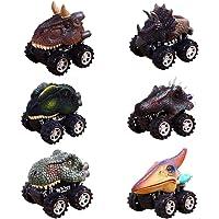 Juguetes de Regalos de Navidad Para Niños de 2 a 9 Años de Edad, CYMY Pull Back Dinosaur Cars for Boys Birthday Present (paquete de 6)