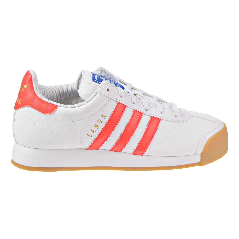 adidas Samoa PRF J Big Kid's Shoes White/Solid Red b27470 (3.5 M US)