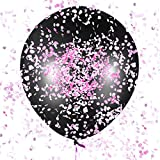 Sepco 36'' Gender Reveal Balloon Tricked Pack for Baby Shower with Pink, Blue and Multicolored Confetti
