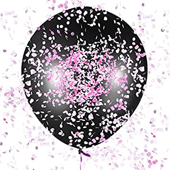 B06XGLBL98 Jumbo 36 Sepco Gender Reveal Confetti Balloon with Pink and Blue Confetti