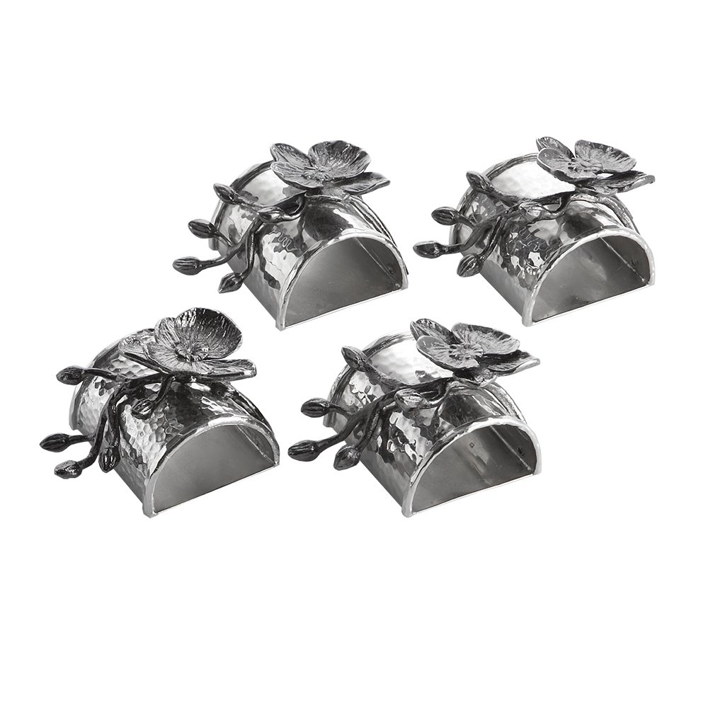 Michael Aram Black Orchid Napkin Ring Set