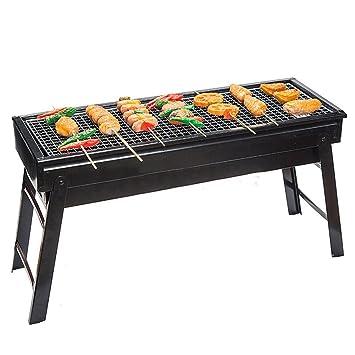TY&WJ Portátil Bbq, Aire libre Plegable Barbacoa de carbón Barbecue Herramienta Para Camping Senderismo Patio