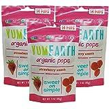 YumEarth牙米滋 棒棒糖 儿童零食 85g/袋*3 美国进口 (草莓味)