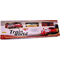 Toys-Zones Train World Real Light & Sound Track Set Battery Operated, Train Set (Multicolor)