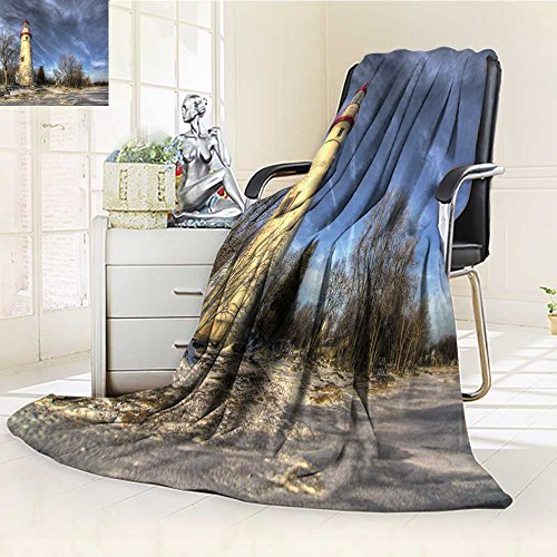 VROSELV Luminous Microfiber Throw Blanket the historic marblehead lighthouse in northwest ohio sits along the rocky shore Glow In The Dark Constellation Blanket, Soft And Durable Polyester(60