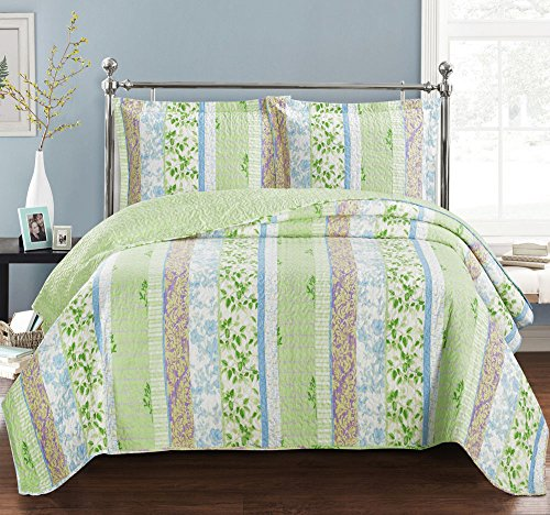 Hayley California King Size, Over-Sized Quilt 3pc set, Luxur