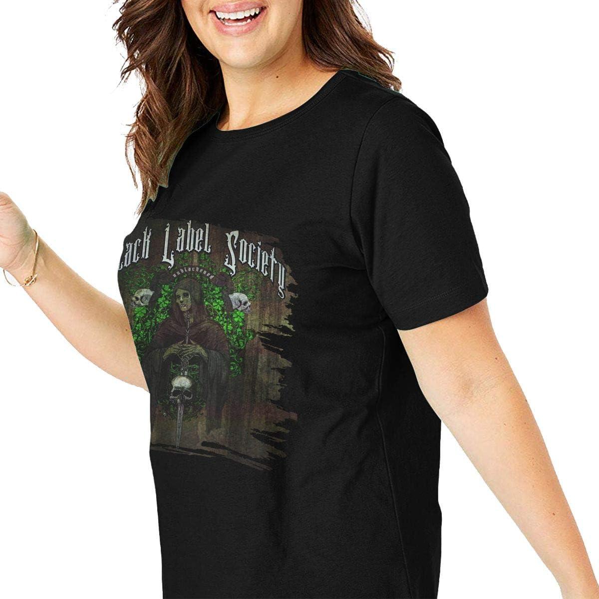 Black Label Society Unblackened Womans Big Size Short Sleeve T Shirt Large Waist Tops