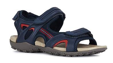 timeless design b1ab1 ebd53 Geox Sandal STREL D9225B Damen Trekking Sandalen,Frauen  Outdoor-Sandale,Sport-Sandale,Aussensteg,3-Fach Klett,DUNKELBLAU,40
