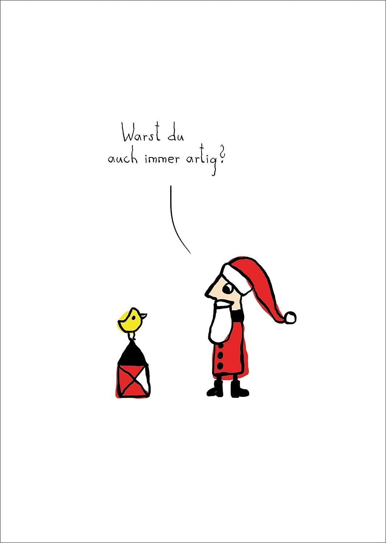 Lustige Weihnachtskarte Mit Weihnachtsmannnikolaus Warst