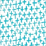 Creative Converting Elise 24 Count 3 Ply Modern Tribal Plus Beverage Napkins, Blue/White