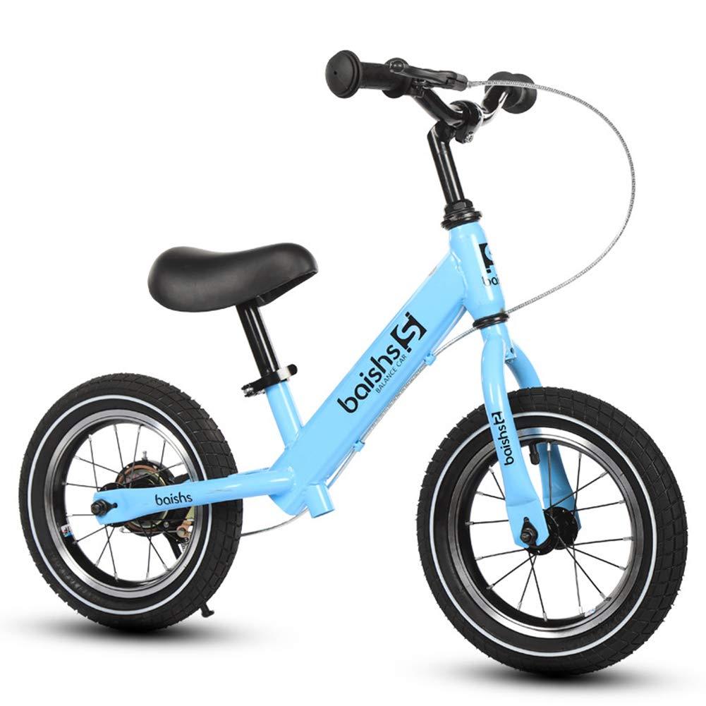 子供のバランスのバイク、古典的な軽量のペダルは幼児の歩く自転車のための調節可能なハンドルバー及び座席のサイクリングの訓練 w を乗るために学ぶ  blue B07PBYK4MD