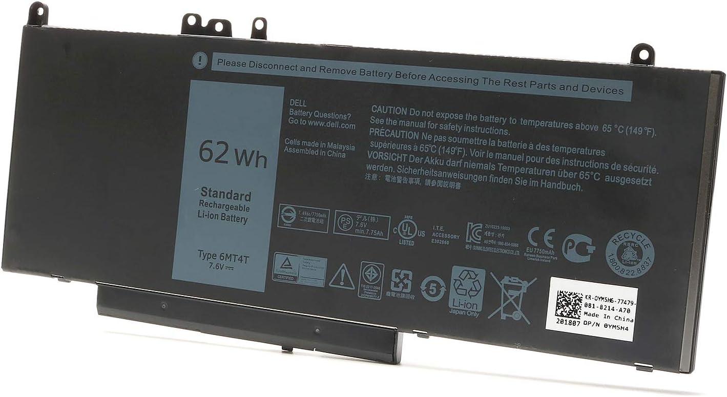 New 62Wh 6MT4T Battery for Dell Latitude E5470 E5570 Precision 3510 0HK6DV 079VRK TXF9M 0TXF9M