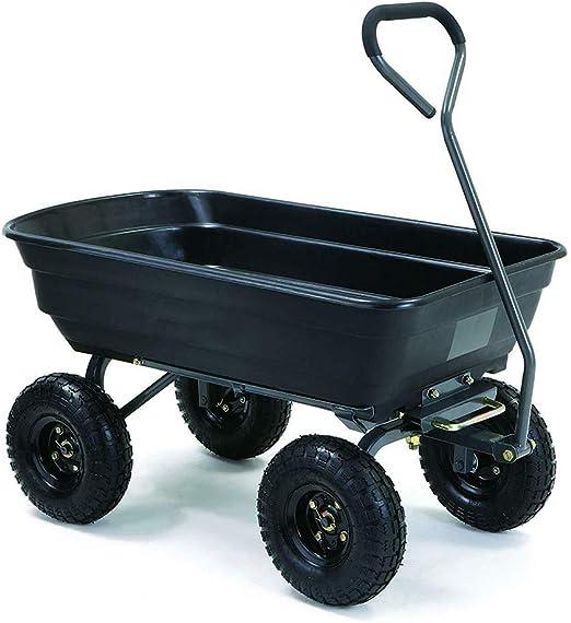 GONGJU Heavy Duty Gorila Carrito de Basura Neumáticos del Carro Carretilla Yarda del jardín de Acero neumáticos: Amazon.es: Jardín