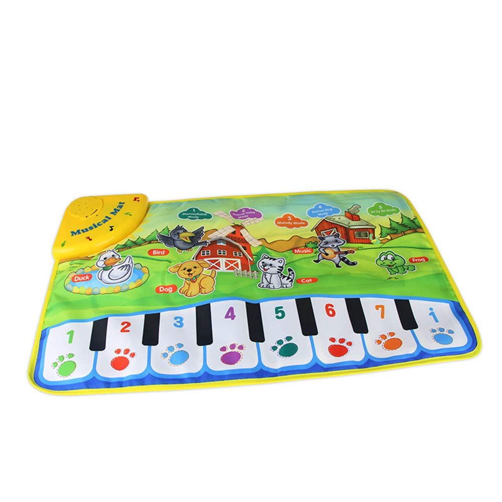 TechCode Children's Upgrade Piano Playmat, Kids Piano Keyboard Music Playmat Toy, Funny Dancing Mat for Babies Toddler Boys and Girls Birthday Christmas Festival Gift by TechCode (Image #1)