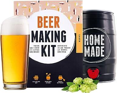 Kit para elaborar Cerveza Artesana Lager en Casa - Producto de Alemania - Disfruta tu cerveza en sólo 7 días - Brewbarrel Braufässchen - Regalos para Hombres: Amazon.es: Alimentación y bebidas