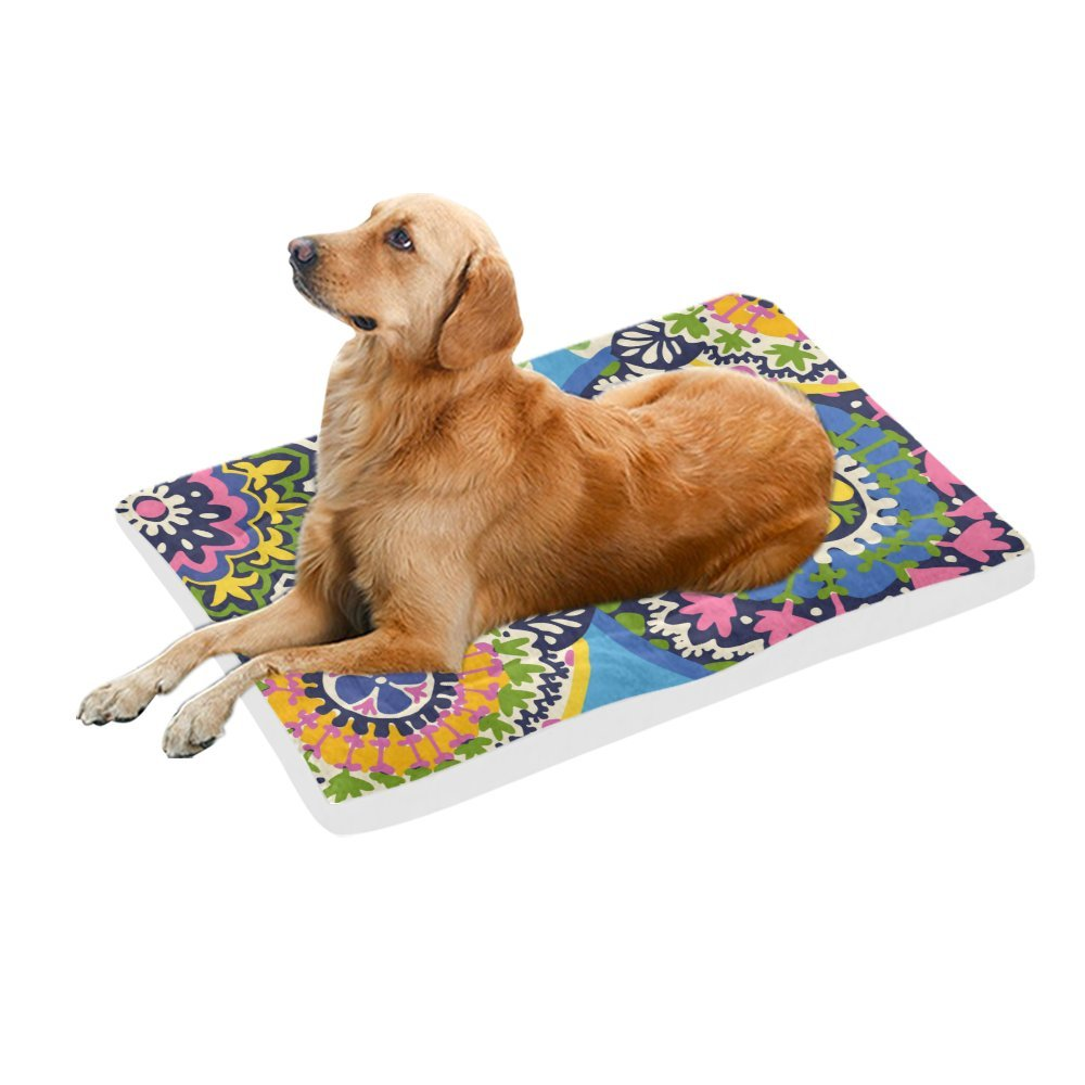 42\ your-fantasia Retro colorful Turtle Pet Bed Dog Bed Pet Pad 42 x 26 inches