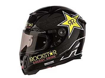 Airoh Casco de Moto GP de 500, color Negro (Rockstar), talla 60