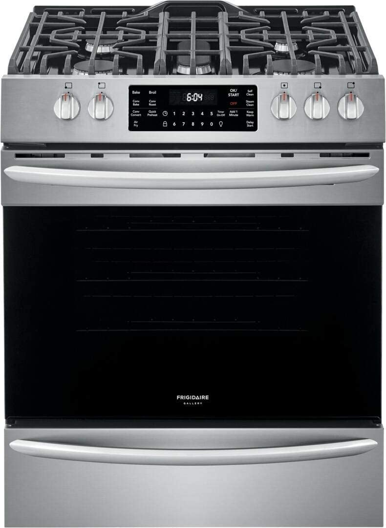 """Frigidaire FGGH3047VF 30"""" Gallery Series Gas Range with 5 Sealed Burners, griddle, True Convection Oven"""