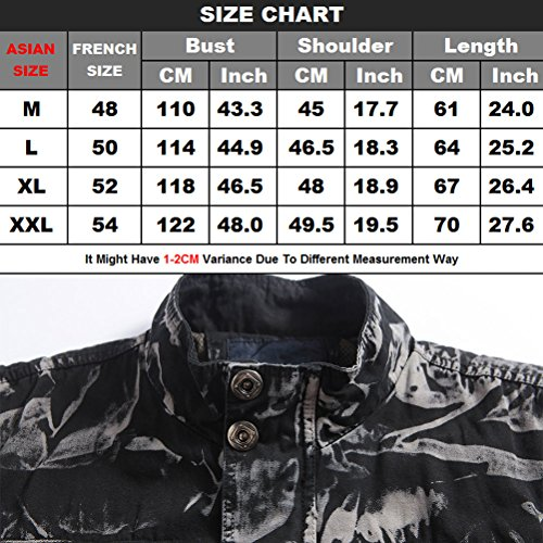 Camouflage High Hiking Casual Quality Mens Waistcoat Collar regalo negro Mountain Vest Tops padre Zhhlinyuan Multipocket Stand 1qfTBn