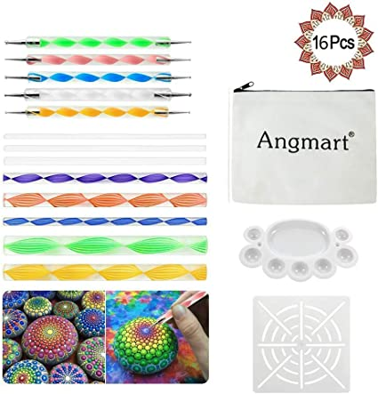 16 Pcs Dot Painting Mandala Dotting Tools DIY Creative Decorative Nail Art Tools