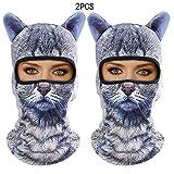 Outgeek Cat Mask, Women Men Balaclava Summer Full