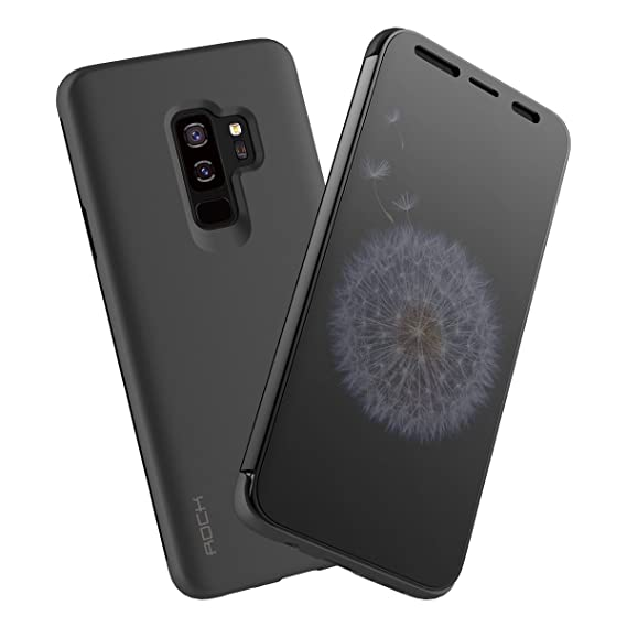 reputable site c0a92 97cc7 Galaxy S9 Plus Case, Rock Clear View Translucent Touch Sensible Ultra Thin  Slim Window Front Flip Cover CaseShockproof Dirt Proof Flip Case Cover for  ...