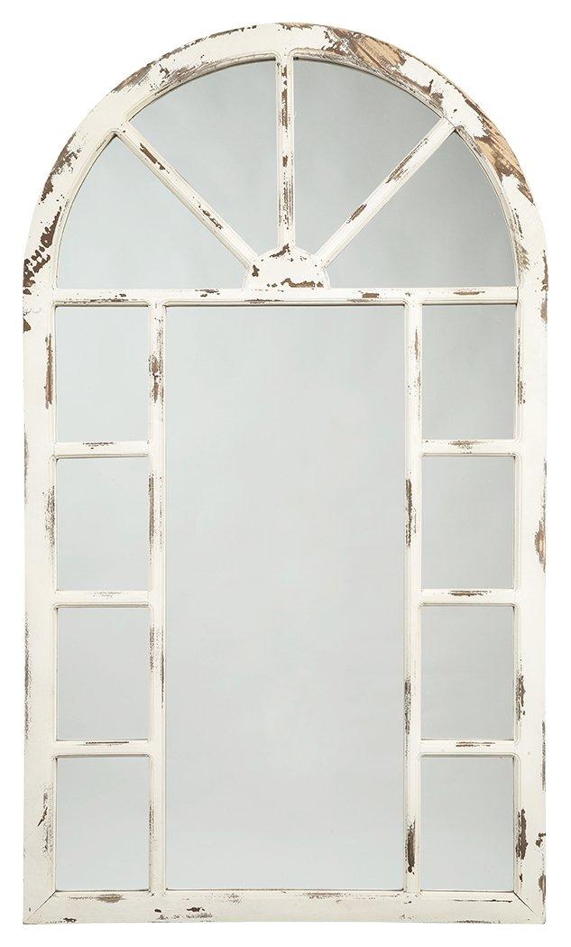 CDM product Signature Design by Ashley Divakar Accent Mirror, Antique White big image