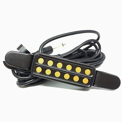 Guitarra acústica clásica Pastilla de recogida Transductor Amplificador Guitarra Agujero de sonido Instrumentos musicales Pastilla Accesorios