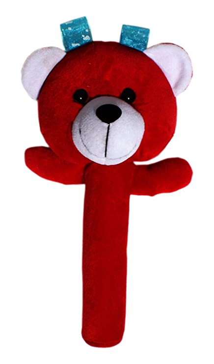 Buy Baby Soft Toys Red Teddy Rattles For Baby Boy Girl Infants