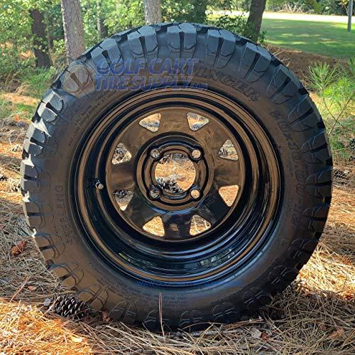 12″ BLACK Steel Wheels and 20×10-12 DOT STINGER All Terrain Tires Combo – Set of 4