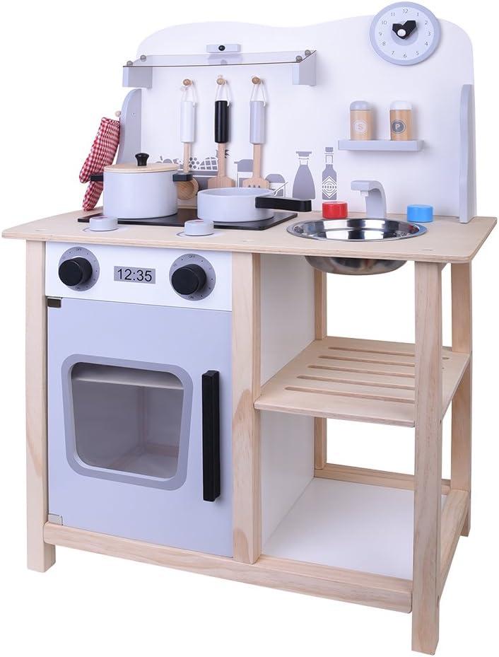 ColorBaby - Cocina madera con accesorios, 60 x 30 x 78 cm (85095 ...