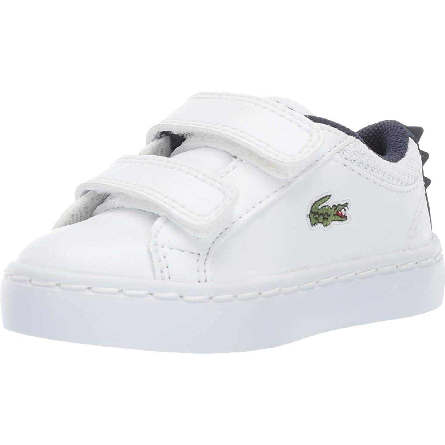 91b76141 Lacoste Straightset 119 1 White/Navy Synthetic Baby Trainers: Amazon ...