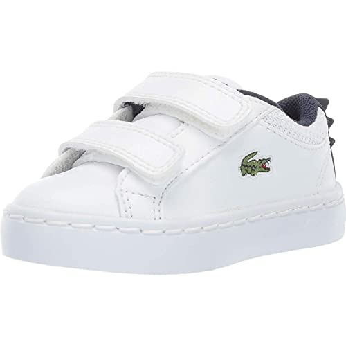 48ab9667f Lacoste Straightset 119 1 White Navy Synthetic Baby Trainers  Amazon ...