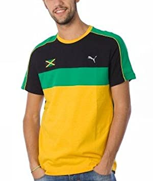 buying now fast delivery uk availability Puma Faas Jamaica Men's T-Shirt (507269 05) (Black Amazon ...