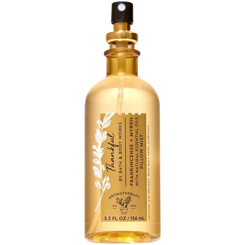 Bath and Body Works Aromatherapy THANKFUL - FRANKINCENSE + MYRRH Pillow Mist 5.3 Fluid Ounce