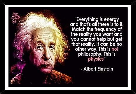 r print albert einstein genius motivational quotes framed poster