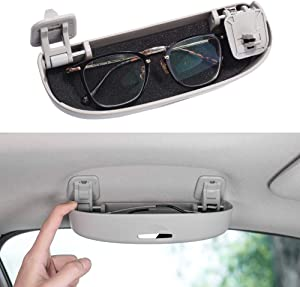 Thenice for 10th Gen Civic Glasses Sunglasses Case Holder Grab Hnadle Storage Box for Honda Civic CR-V XR-V Accord Insight 2020 2019 2018 -Gray