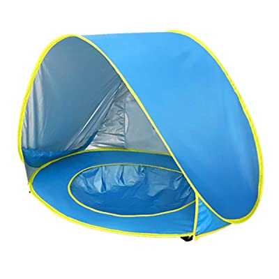 Yinuoday Beach Tent for Baby, Portable Tent with Pop Up, UPF 50+ Sun Shelters for Kids Outdoor Baby Travel Bed Sun Shade with Mosquito Net for Infant, Beach Umbrella for Girls Boys: Toys & Games