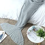 Mermaid Tail Blanket Crochet Mermaid Blanket for Adult, Soft All Seasons Sleeping Blankets, Classic Pattern