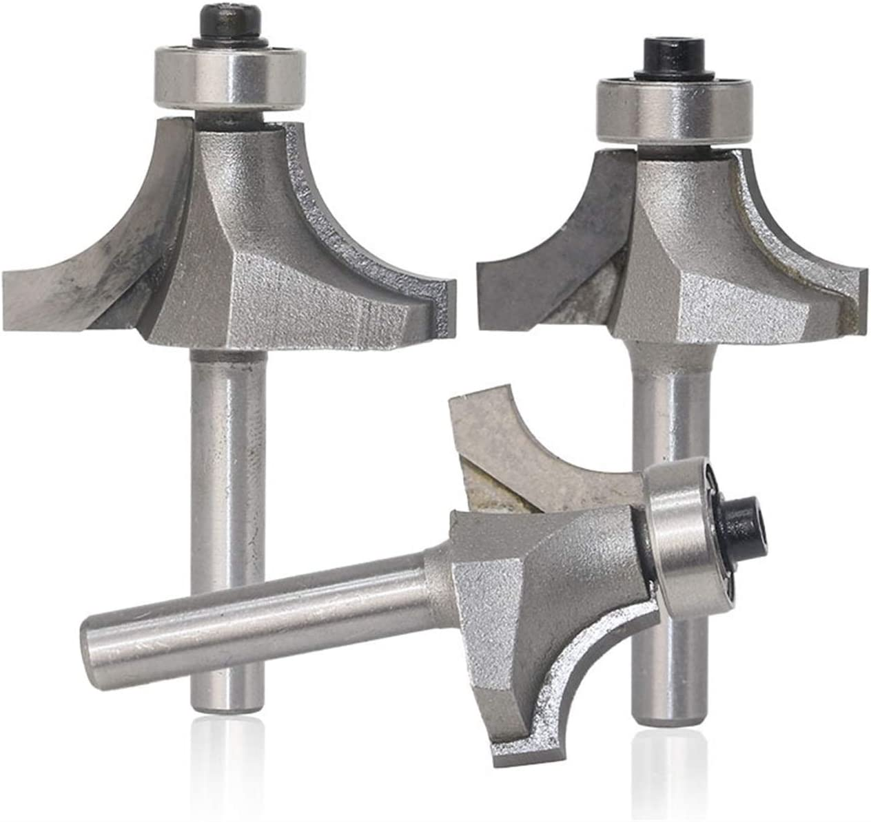 4pcs Zkenyao-Router Bit Radius Round Over Edge Forming Router Bit 1//4 Shank Use Safety Reliable