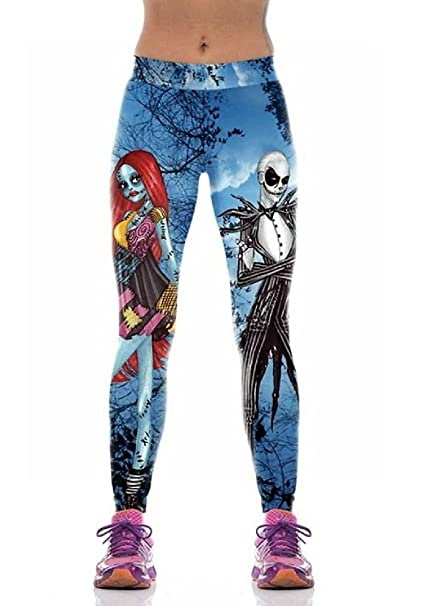 a191cacc214c5 Nightmare Before Christmas Sally & Jack OSFM Blue Novelty Leggings at  Amazon Women's Clothing store: