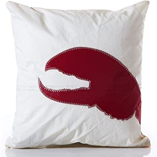 """product image for Recycled Sail Cloth Red Lobster Claw Pillow 16""""h x 16""""w"""