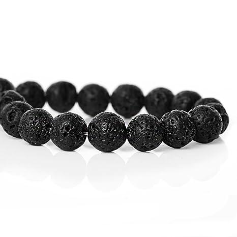 SiAura Material 1 Cuerda de Perlas de Lava 8 - 9 mm con ...