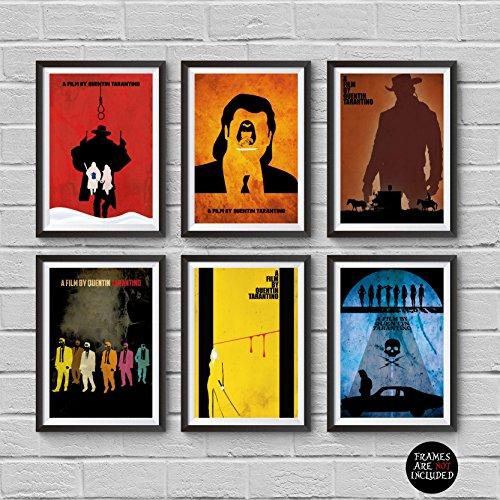 Quentin Tarantino Minimalist Poster Set 6 Movies The Hateful
