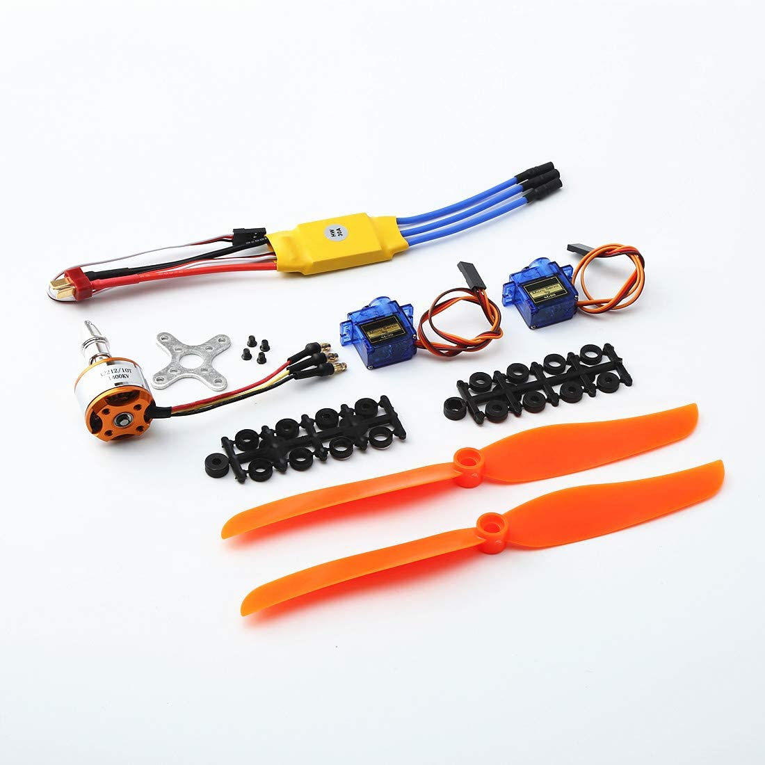FairOnly A2212 1400KV Moteur Brushless 30A ESC SG90 9G Micro Servo 8060 h/élice pour h/élicopt/ère RC /à voilure Fixe Jouets